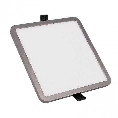 Downlight LED cuadrado 18 W grafito negro 4000K