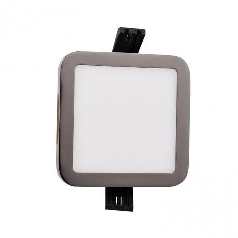 Downlight LED cuadrado 9W 4000K grafito negro