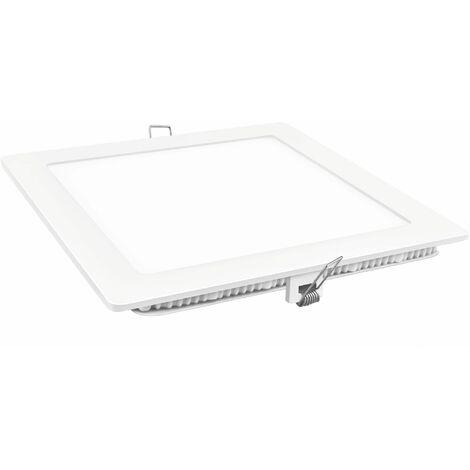 Downlight led cuadrado blanco 9w fría