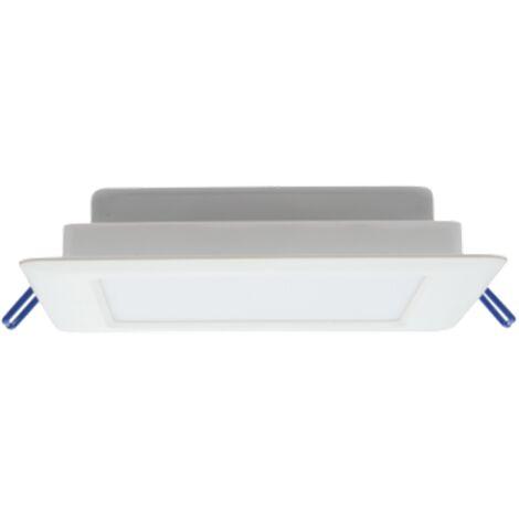 Downlight Led cuadrado blanco EcoMax 12W luz neutra 4000K