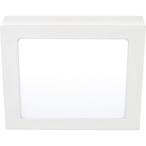 Downlight Led cuadrado de superficie blanco 18W 6000°K 205x205mm. (Ledesma 10945)