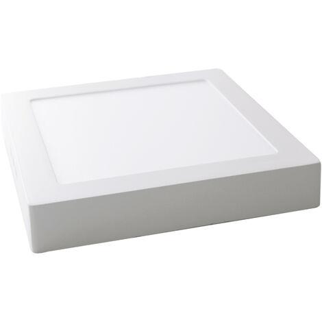Downlight Led cuadrado de superficie de aluminio blanco 18W 4200°K (GSC 0702149)