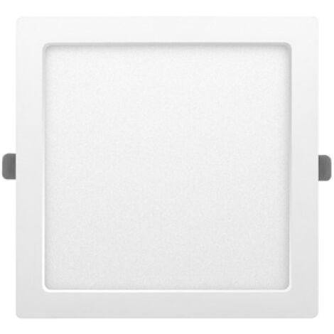 Downlight Led cuadrado empotrable o superficie Monet blanco 18W 6000°K 218x218mm. (ALG 67656)
