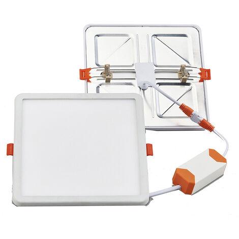 Downlight Led cuadrado empotrable regulable y ajustable en corte 15W 1550Lm 6500°K (F-Bright 2801561)