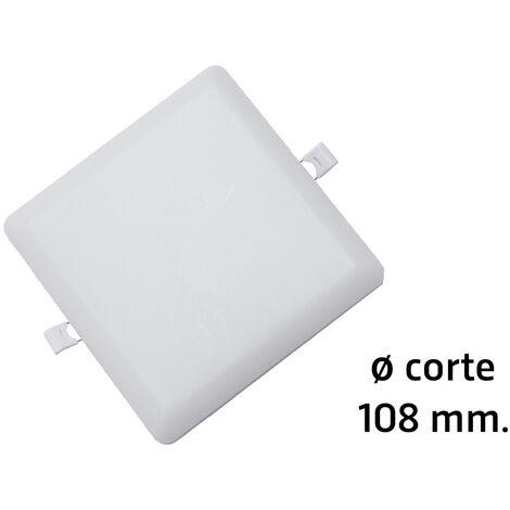 Downlight Led cuadrado empotrable sin marco modelo Selene para sustitución directa 18W 6000°K øcorte: 108 mm. (ALG 67031)