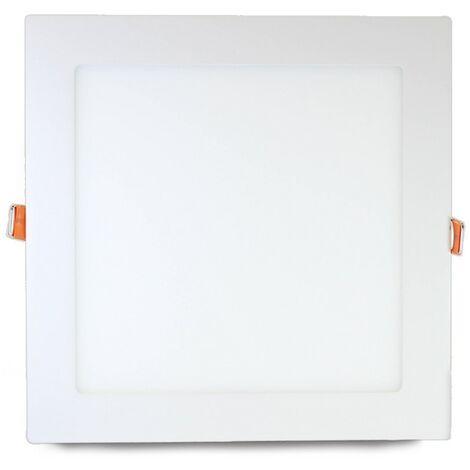 Downlight LED cuadrado extra plano de 18W blanco