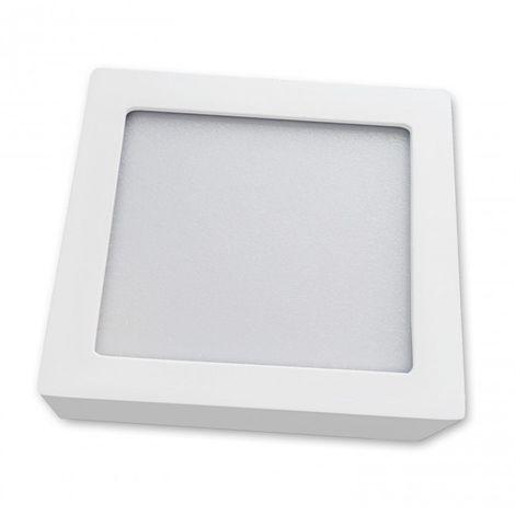 Downlight LED de superficie 18W cuadrado blanco 4000k