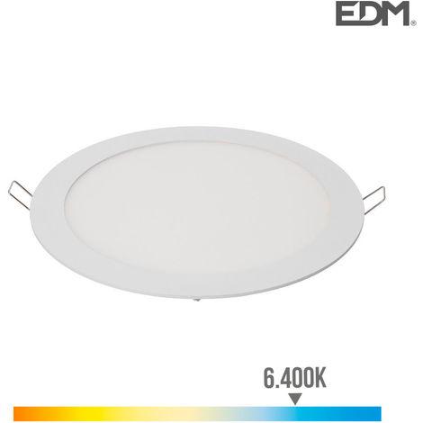 Downlight led empotrable 20W Luz Fría 6000K 1500Lm Blanco Lumeco