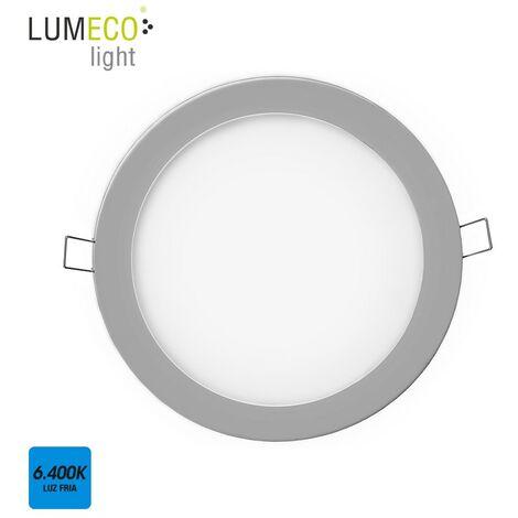 DOWNLIGHT LED EMPOTRABLE 20W LUZ FRIA 6.400K 1500 LUMENS CROMO MATE LUMECO