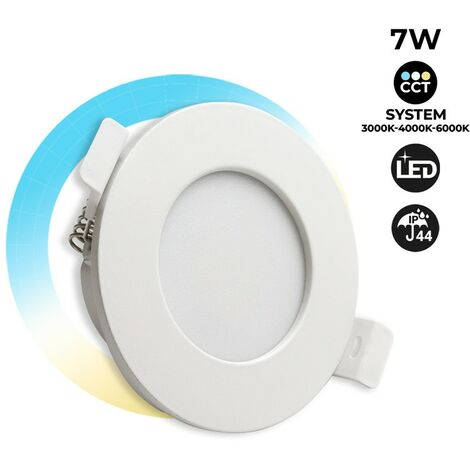 Downlight LED empotrable 7W IP44 con selector CCT