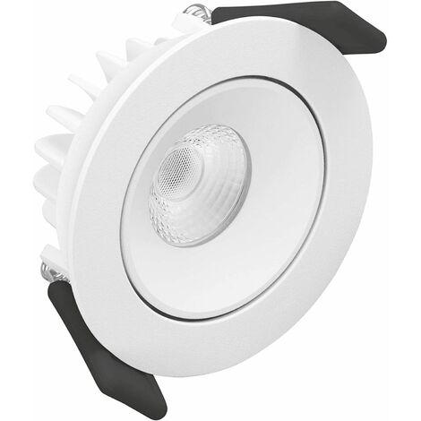 Downlight led empotrable blanco tipo SPOT de 8W . Luz cálida de Ledvance