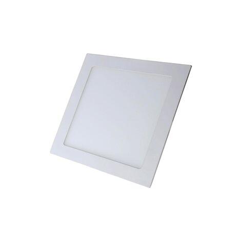Downlight LED empotrable cuadrado blanco 18w 3000k luz calida - 0