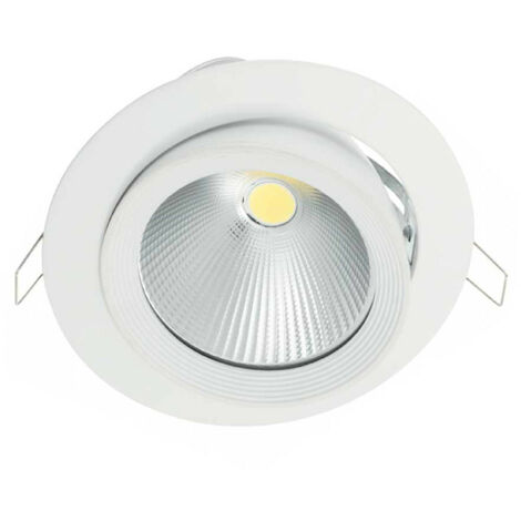 Downlight LED Empotrable Orientable Redondo 27W 2700lm Ø18cm 6000K Blanco Eilen