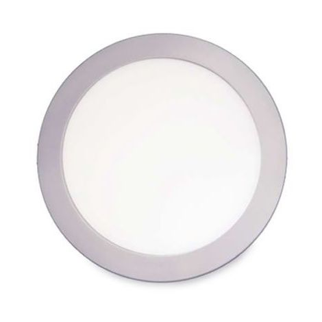 Downlight LED empotrable redondo 18W 1600lm 4200K gris GSC 0703432