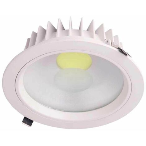 Downlight LED Empotrable Redondo 30W 2565lm Ø20cm 6000K Blanco Eilen