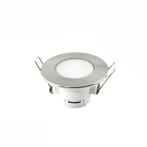 Downlight Led empotrable redondo níquel 5W IP65