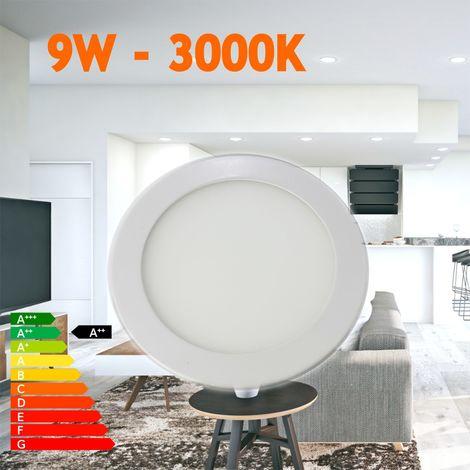 Downlight led empotrar 9W redondo blanco 3000ºK
