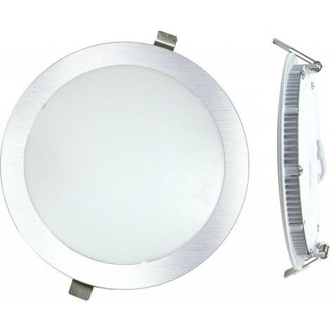 DownLight LED Empotrar Redondo 12W 4000K Luz Natural Color Plata.