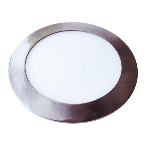 Downlight led extraplano circular plata 24W 120°