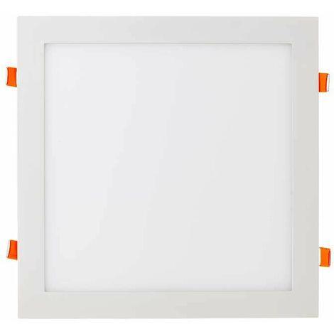 Downlight LED extraplano cuadrado blanco 36W 120° Temperatura de color - 6400K Blanco frío