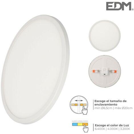 Downlight led marco blanco 20w regul. tamaño emp. y tipo luz edm