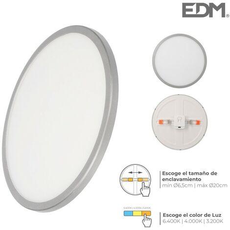 DOWNLIGHT LED MARCO CROMO MATE 20W REGULABLE TAMAÑO EMP. Y TIPO LUZ EDM