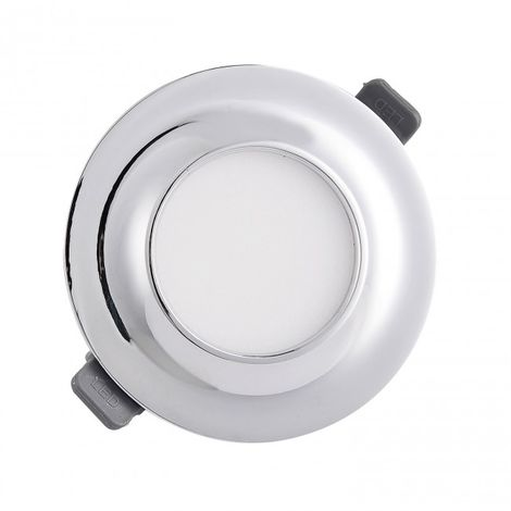 Downlight LED Moldura circular 9W 4000k cromo