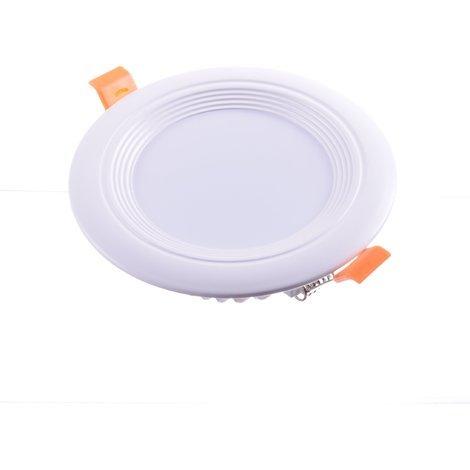 Downlight LED oceano redondo empotrar 9W 4200K marco blanco PF0,95