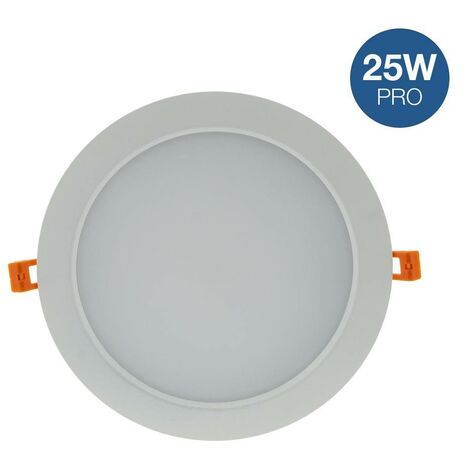 Downlight LED profesional 25W circular empotrable