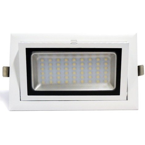 Downlight LED rectangular basculante 38W 3350lm 90º