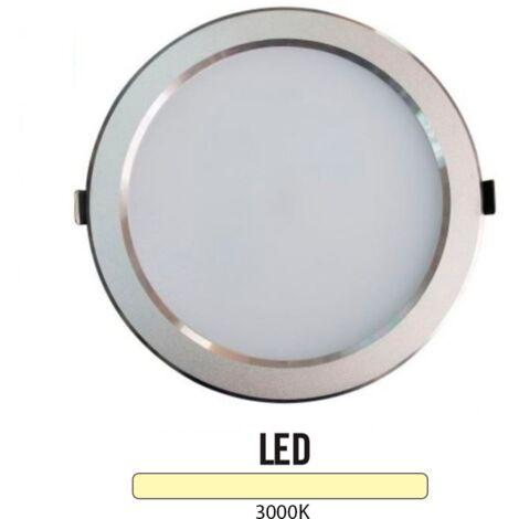 Downlight Led Redondo 25W Plata -Disponible en varias versiones