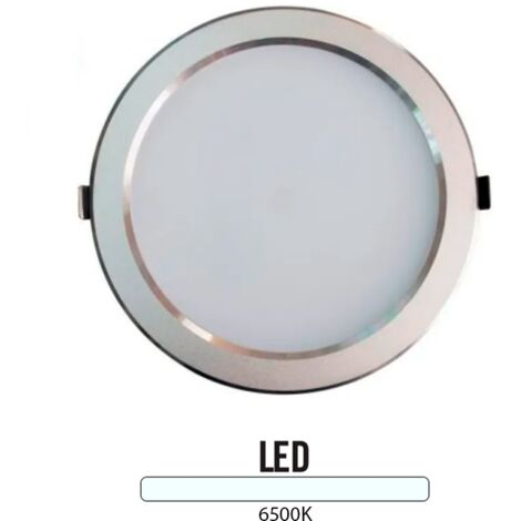 Downlight Led Redondo 25W Plata -Disponible en varias versiones