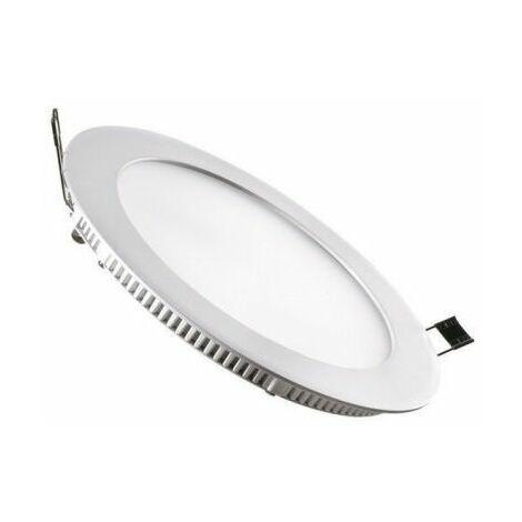 Downlight led redondo blanco super plano 18w 22´5cm - 0