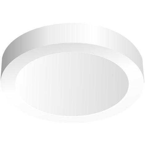 Downlight Led redondo de superficie blanco 18W 6000°K 225x35mm. (Ledesma 10861)