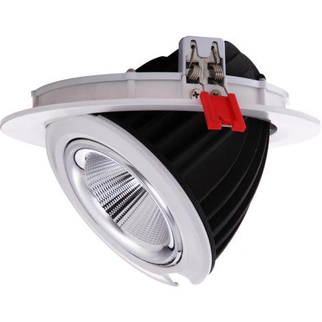Downlight LED redondo empotrable basculante 48W | Blanco neutro 4000K