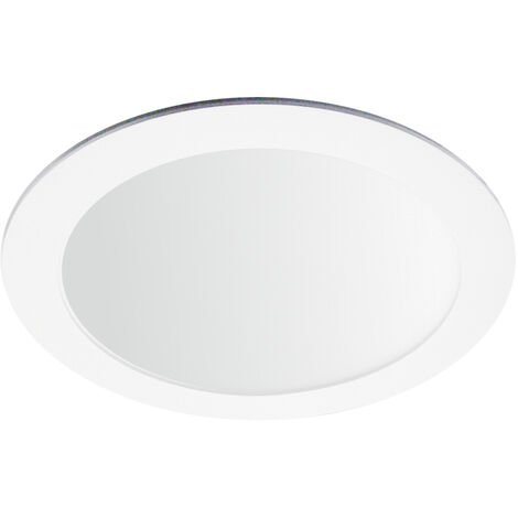 Downlight Led redondo empotrable blanco 18W 3000°K 225x19mm. (Ledesma 10751)