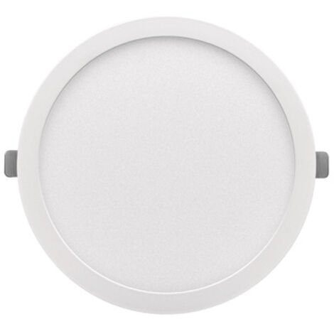 Downlight Led redondo empotrable o superficie Monet blanco 24W 6000°K 290x13mm. (ALG 67654)