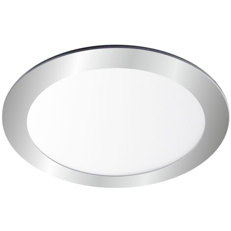 Downlight Led redondo empotrable plata 18W 4000°K 225x19mm. (Ledesma 10799)