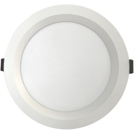 Downlight Led redondo empotrable profesional regulable en color Triton blanco 30W 3300Lm (Ledbay TRT-B-30)