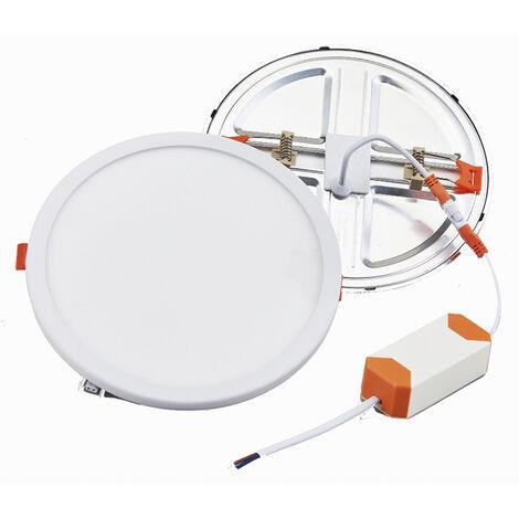 Downlight Led redondo empotrable regulable y ajustable en corte 15W 1510Lm 6500°K (F-Bright 2801552)