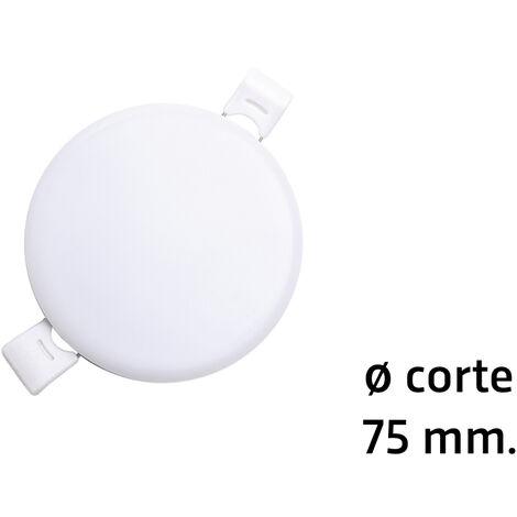 Downlight Led redondo empotrable sin marco modelo Selene para sustitución directa 9W 6000°K øcorte: 75 mm. (ALG 67710)