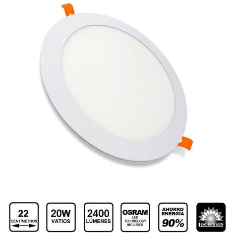 Downlight LED Redondo Extrafino Encastrar ECOMAX 20W 6000K Blanco Frío