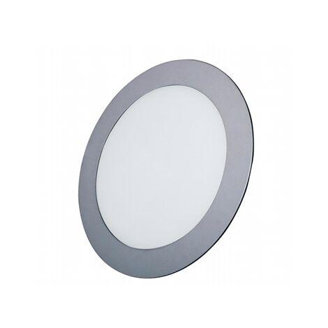 Downlight led redondo plata empotrable 12w 6000k luz blanca - 0