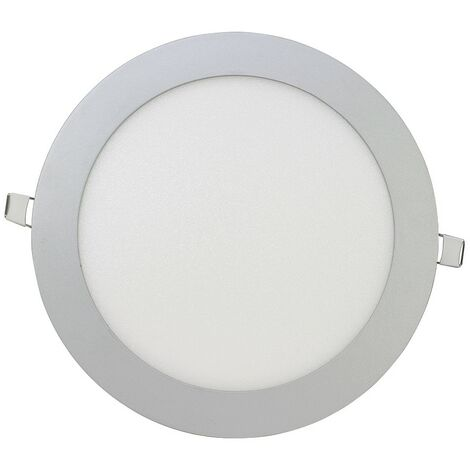 Downlight Led redondo ultraplano plata 18W -Disponible en varias versiones