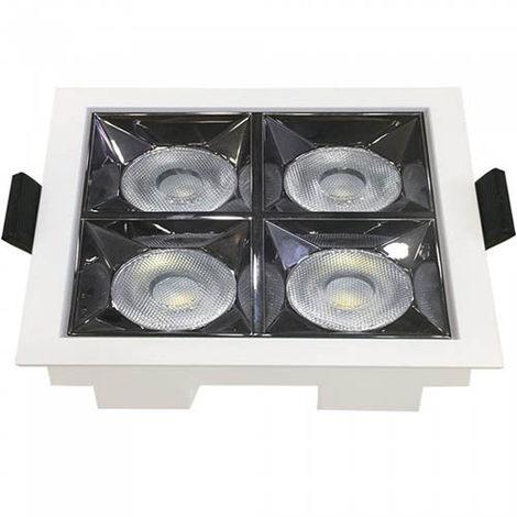 Downlight LED Reflector empotrable cuadrado 16W 12° Temperatura de color - 2700K Blanco cálido