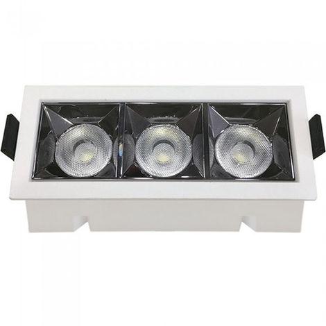 Downlight LED Reflector empotrable rectangular 12W 12° Temperatura de color - 2700K Blanco cálido