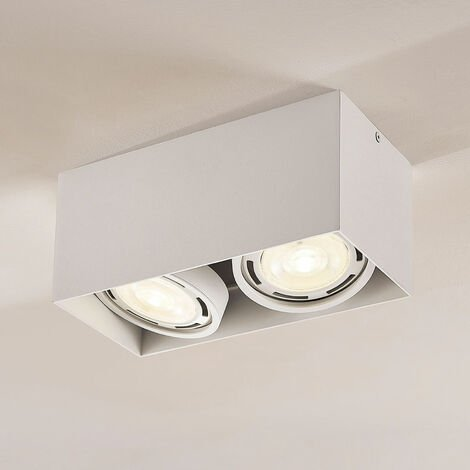 Downlight LED Rosalie, atenuable, 2 luces, blanco