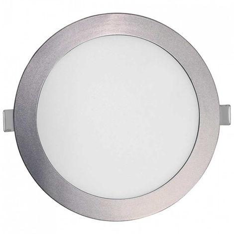 Downlight LED Slim Empotrable Redondo 18W 1450lm Ø20cm 6000K Aluminio Eilen