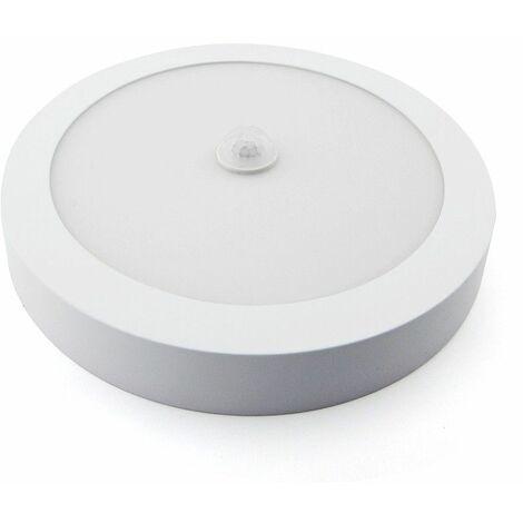 Downlight LED superficie blanco con sensor de presencia 18W -Disponible en varias versiones