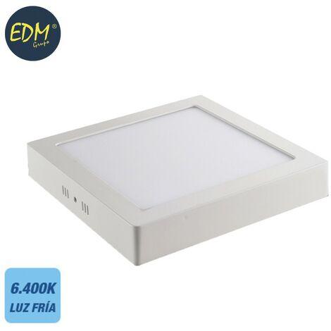 Downlight LED superficie cuadrado 20W 6400K 1500lm blanco EDM 31595